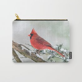 Cardinal Holding Steady in the Storm Carry-All Pouch