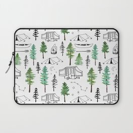 Camping and Trees Laptop Sleeve