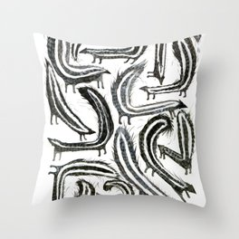 Wassup Skunk Throw Pillow
