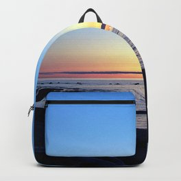 Sun Sets up the River, Across the Sea Backpack