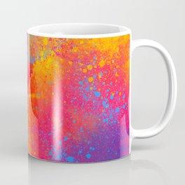 Bohemian 1960's Psychedelic Abstract Splatter Design Coffee Mug