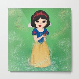 Snow White's Poison Apple Metal Print