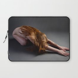 1727-PDJ Nude Redhead Bowing Down Hands Out Laptop Sleeve