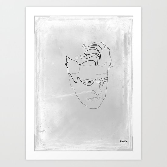 One line David Lynch Art Print