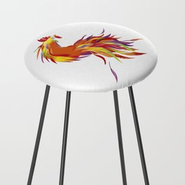 Red Rooster Counter Stool