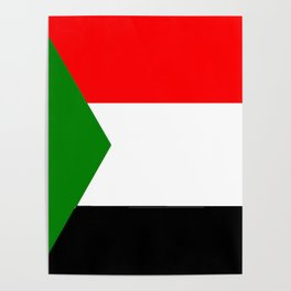 flag of sudan 2 -sudan,السودان ,sudanese,nubia,khartoum,omdurman Poster