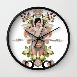 Nude Flowers by Lenka Laskoradova Wall Clock