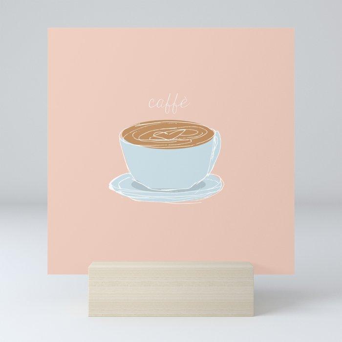 Italian coffee sketch Mini Art Print