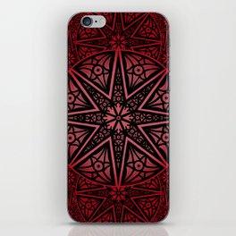 rashim red star mandala iPhone Skin