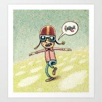 pilot Art Prints featuring Pilot by MaComiX
