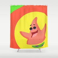 patrick Shower Curtains featuring Patrick Star by Eyetoheart