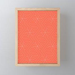 Tomato - orange - Modern Vector Seamless Pattern Framed Mini Art Print