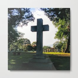 Lowercase Letter 'T' (Grove Hill Cemetery, Dallas TX) Metal Print