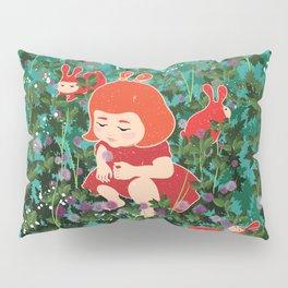 Girl Picking Wild Flowers Pillow Sham