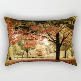 Red Maple in Larz Anderson park. Rectangular Pillow