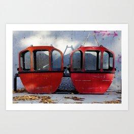 Ski Gondolas Art Print