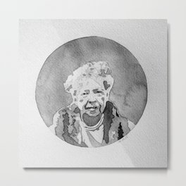 Eleanor Roosevelt Watercolor Metal Print