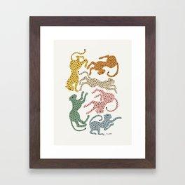 Rainbow Cheetah Framed Art Print