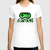gamer T-shirts featuring Gamer Green by UMe Images