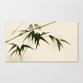 Oriental style painting, bamboo branches Canvas Print