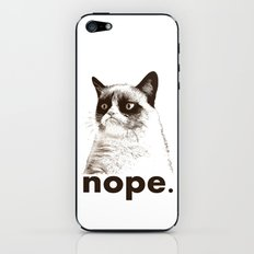 NOPE - Grumpy cat. iPhone & iPod Skin