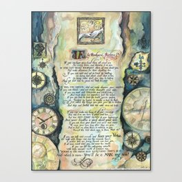 """Calligraphy of the poem """"IF"""" by Rudyard Kipling Canvas Print"""