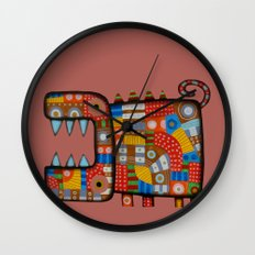 Dog hippo Wall Clock