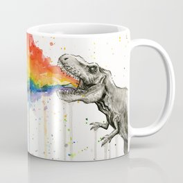 T-Rex Rainbow Puke Coffee Mug