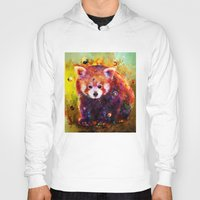 red panda Hoodies featuring red panda by ururuty