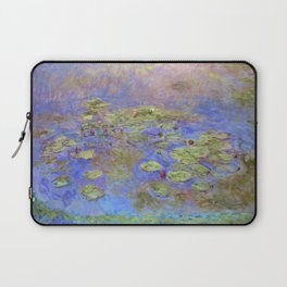 Water Lillies - Claude Monet (indigo blue) Laptop Sleeve