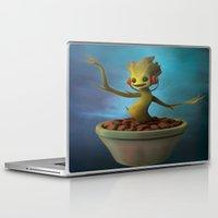 groot Laptop & iPad Skins featuring Groot! by Drogyn
