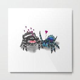 Spiders in Love Metal Print