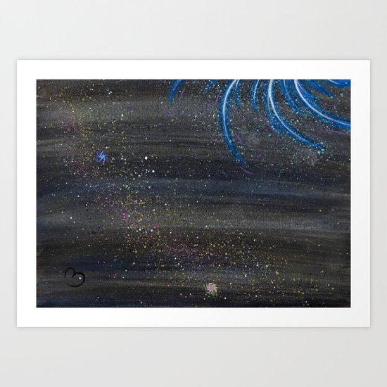Water Galaxy Art Print