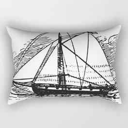 Vintage Boat Rectangular Pillow