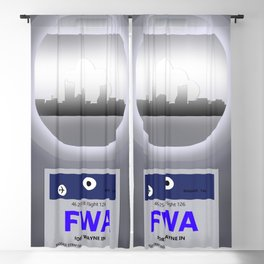 Fort Wayne - FWA - Airport Code and Skyline Blackout Curtain