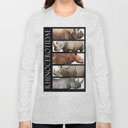 Rhinos of the World Long Sleeve T-shirt