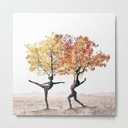 Dancing trees Metal Print