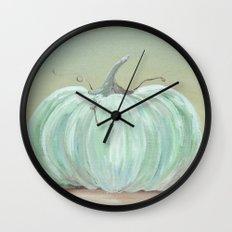 Ready for Fall Cinderella pumpkin Wall Clock