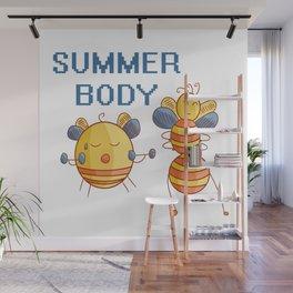 Summer Body - Bees Exercising Wall Mural