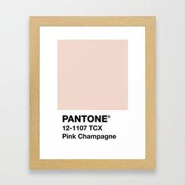 PANTONE ® Pink Champagne Framed Art Print