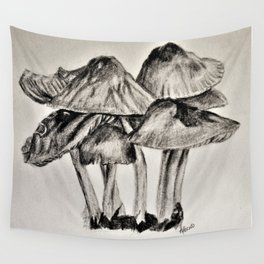 mushroom village sketch Wall Tapestry