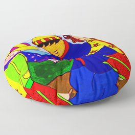 Splashy Puddle Jumpers Floor Pillow