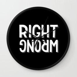 Right / wrong #2 Wall Clock
