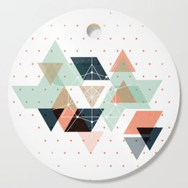 Midcentury geometric abstract nr 011 Cutting Board