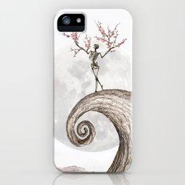 Blooming Skeleton (bright version) iPhone Case