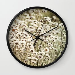 Life is But a Dream -- Vintage Wildflowers Daisies Asters Fleabane Wall Clock