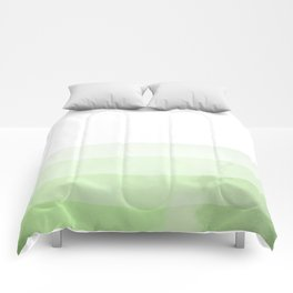 Dip Dye - Green Comforters