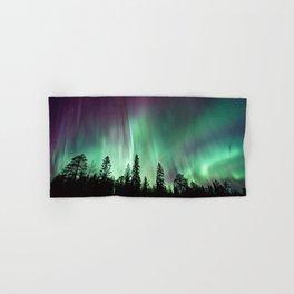 Colorful Northern Lights, Aurora Borealis Hand & Bath Towel