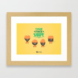 What's your Head Shape? Framed Art Print