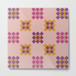 Multicolored geometric print Metal Print